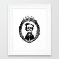 poe Framed Art Prints featuring Poe by Shawn Dubin