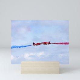 The Red Arrows synchro pair Mini Art Print