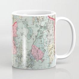 Vintage Map of Rhode Island (1887) Coffee Mug