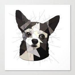 Black Chihuahua Canvas Print