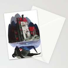 the house above Stationery Cards