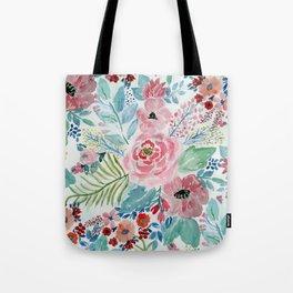Pretty watercolor hand paint floral artwork. Tote Bag