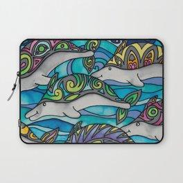 Hippie Dolphins Laptop Sleeve