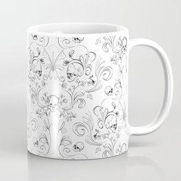 Skull Garden Demask Coffee Mug