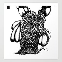 the who Art Prints featuring Who? by Yeshead