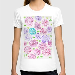 7     190411 Flower Abstract Watercolour Painting T-shirt