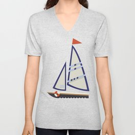 Sailboat I Unisex V-Neck
