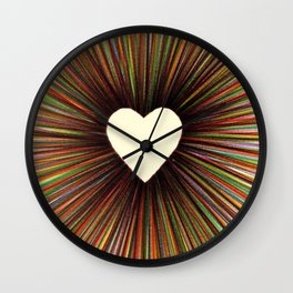 heart radiant color Wall Clock