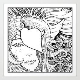 Gorgone Art Print
