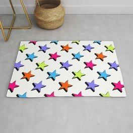 Pop Star - White background - Pattern Rug