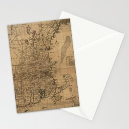 Vintage Map of The New England Coast (1771) Stationery Cards