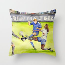 Ledley King tackles Robben Throw Pillow