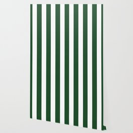 Cal Poly Pomona green - solid color - white vertical lines pattern Wallpaper