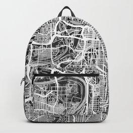 Kansas City Missouri City Map Backpack