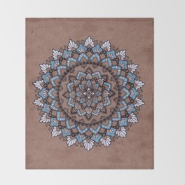 Mandala on Masonite II Throw Blanket