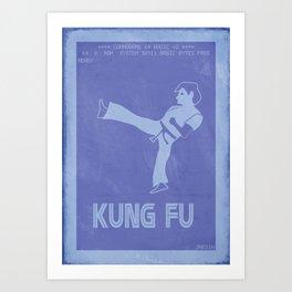 Retrogaming - Kung fu Art Print