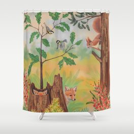 Back to childhood Shower Curtain