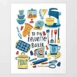 Favorite Baker Art Print