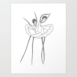 Ink and Ballet 2 (Dancing) Art Print