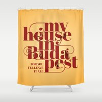 budapest Shower Curtains featuring Budapest by Lowso