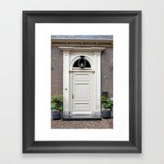 White church door Framed Art Print