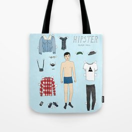 Hipster Paper Doll Tote Bag