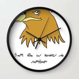 The Eagle and England Wall Clock
