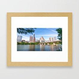Bright Day in Austin Framed Art Print