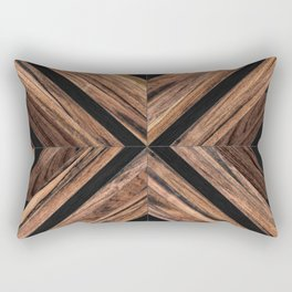 Urban Tribal Pattern No.3 - Wood Rectangular Pillow