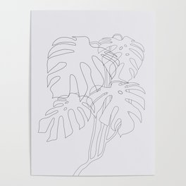 Monstera Illustration Poster
