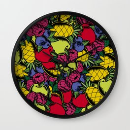 Berry Juice Wall Clock