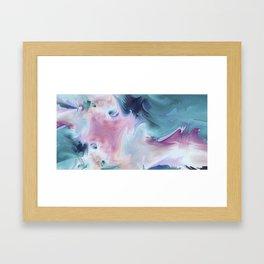 Abstract Art- Watercolor Art- Fractal Art- Blue Art- Ocean- Water- Marann Framed Art Print