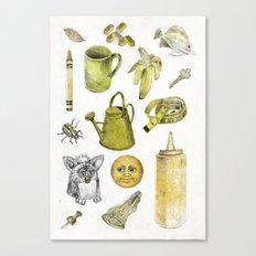 Yellow stuff  Canvas Print