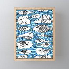 Fishy Friends Framed Mini Art Print
