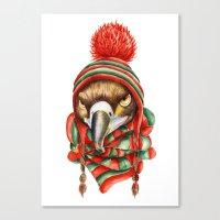 hawk Canvas Prints featuring Hawk by Julia Badeeva