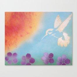 Hummingbird in Spring Canvas Print