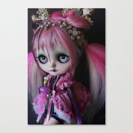 LITTLE OCTOPUS CUSTOM BLYTHE ART DOLL PINK NAVY Canvas Print
