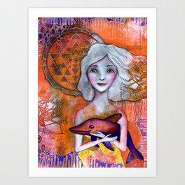 Dolphin Love Art Print