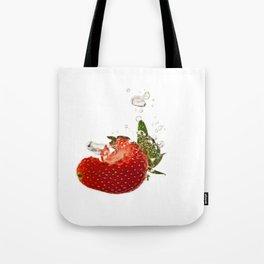 Strawberry splash Tote Bag