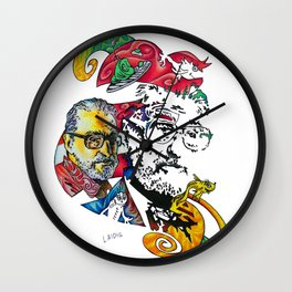 Homage to Theodor Seuss Geisel Wall Clock