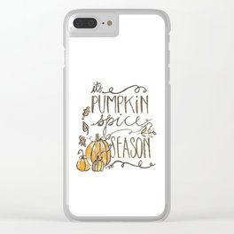 It's Pumpkin Spice Season Illustration Clear iPhone Case