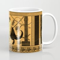 bouletcorp Mugs featuring Taming the Triceratops by Bouletcorp