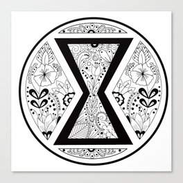 Black Widow Mandala Canvas Print