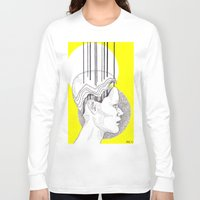 yellow pattern Long Sleeve T-shirts featuring Yellow by Raxa Russian Roulette