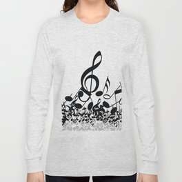 Music Note's BW 2 Long Sleeve T-shirt
