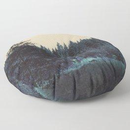 Blue forest Floor Pillow