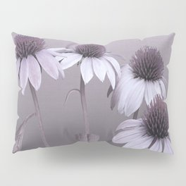 Purple Coneflowers and Dragonfly Pillow Sham