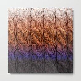 sunset gradient knit Metal Print