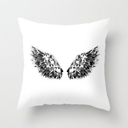 Black Mirror Wings Throw Pillow