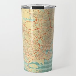 Singapore Map Retro Travel Mug